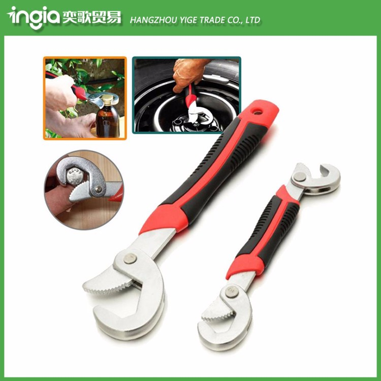 2pcs Multi-function Adjustable Quick Snap'N Grip Useful Wrench Spanner Set Tool