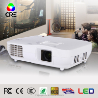CREX2000 3000 lumens 1920*1080 resolution full HD 1080P model LED projector with HDMI,AV, DTV,VGA ,YPBPR and USB interface