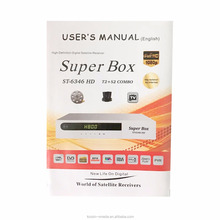 super box dvb t2+s2+t dvb receiver support FR in and out cccam , powervu, youtube