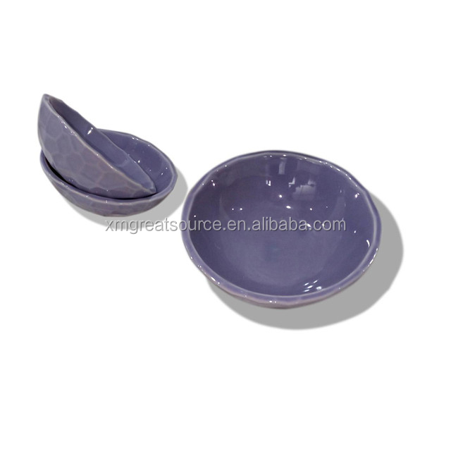 hotsale purple color dog bowl Ceramic Pet Food Bowl
