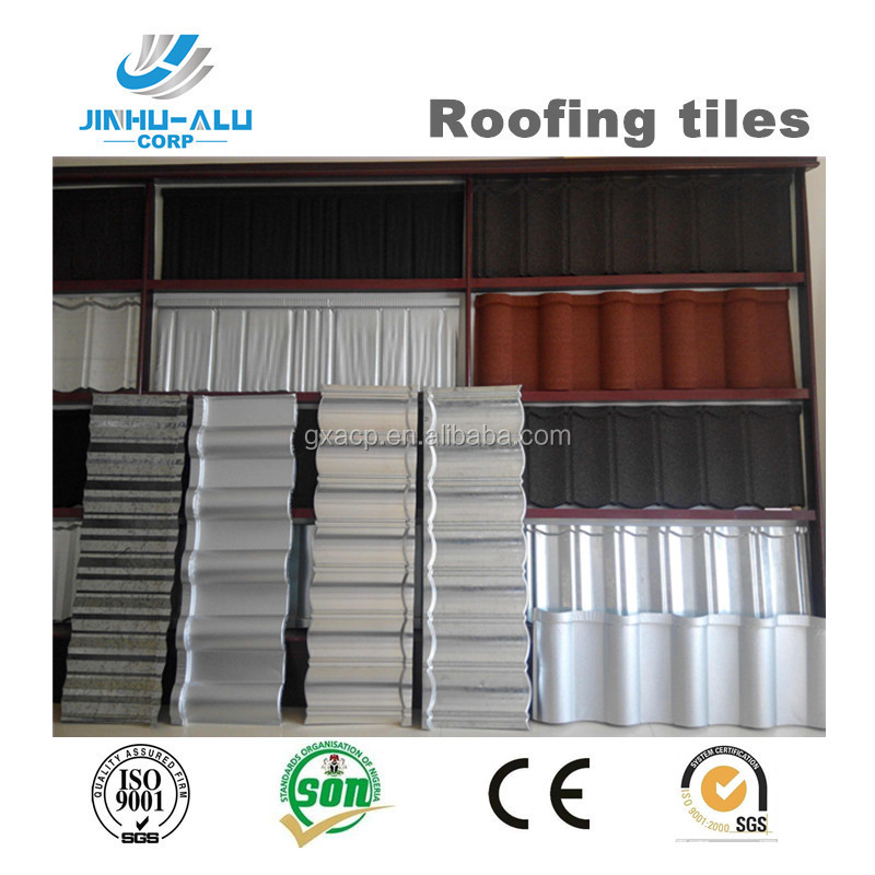 Rainbow type metal roofing tiles with colorful sand coated JH05