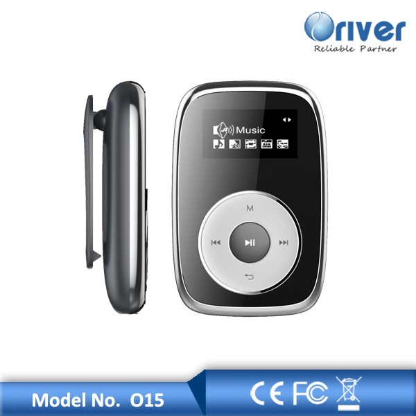 New mp3 player bluetooth and FM optional by Oriver O15 clip style mp3 player