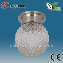 round glass lamp cover ceiling beading pumpkin lamp