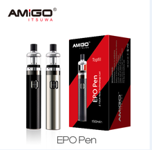New 2016 Amigo Z Tech 0.8omh 510 thread 18650 stainless steel vape pen with big vapor and good taste
