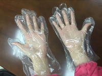Disposable food handling gloves/gloves for handicap