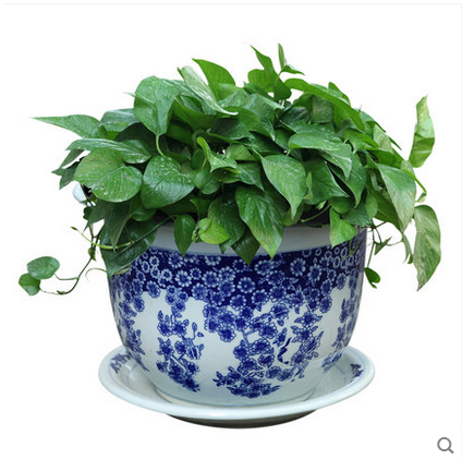 2016 Garden pot chinese ceramic blue and white flower pot with different sizes