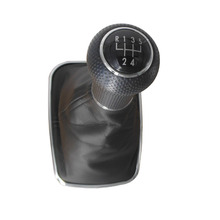 5 or 6 Speed Gear Shifter Knob With Leather Boot for Volkswagen VW Bora Golf 13mm / 23mm 1J0711113C