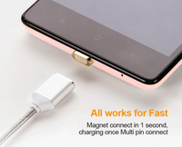 2017 Magnet Charger Cable for Android Cell Phone Micro USB Data Cable for Samsung USB for iPhone Magnetic Charging Cable