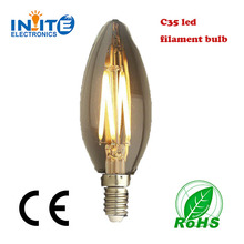 high power C35 filament lamp 360 degree beam angle 4w E27 led candle bulb chandelier lights