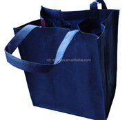 Promotional non woven fabric 6 pack wine tote bag