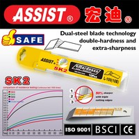 ASSIST snap off cutter blade with 9mm 18mm 25mm utility knife blade for china supplier