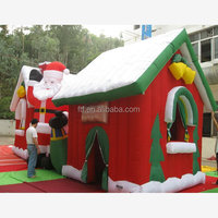 Singing inflatable bear Christmas snowman