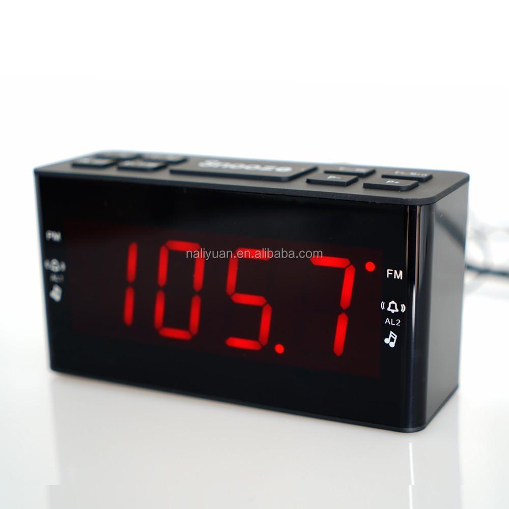 hotel digital alarm clock radio receiver large jumbo led display snooze sleep buy home radio. Black Bedroom Furniture Sets. Home Design Ideas