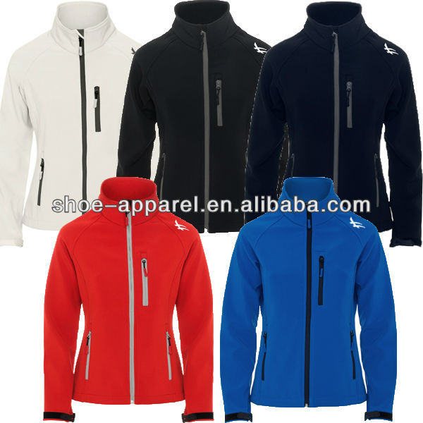 2014 polyester spandex softshell jacket for women