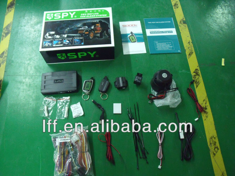 Two way car alarm system with trunk open, remote engine start popular in Latin American and Russia market