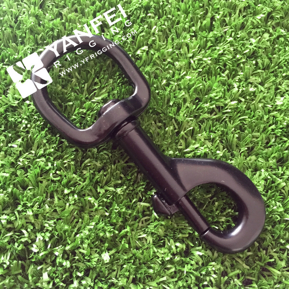 Black Spray-Paint Swivel Bolt Snap Hook