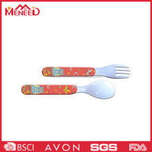 First grade design dinner use plastic melamine children personal fork and spoon