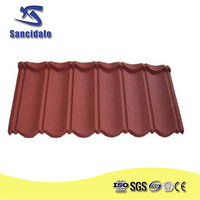 HIGH QUALITY CHEAP PRICE BUILDING MATERIAL STONE COATED METAL ROOFING TILE IN CHINA