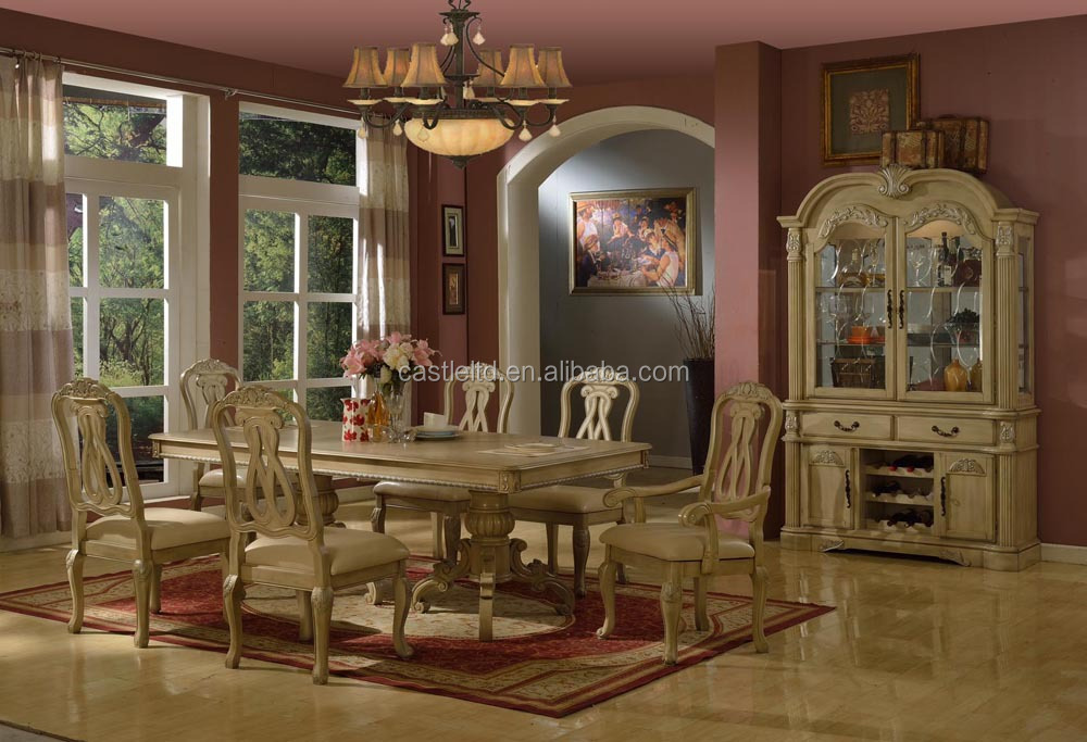 Luxury antique wooden dining room set,home/hotel dining furniture