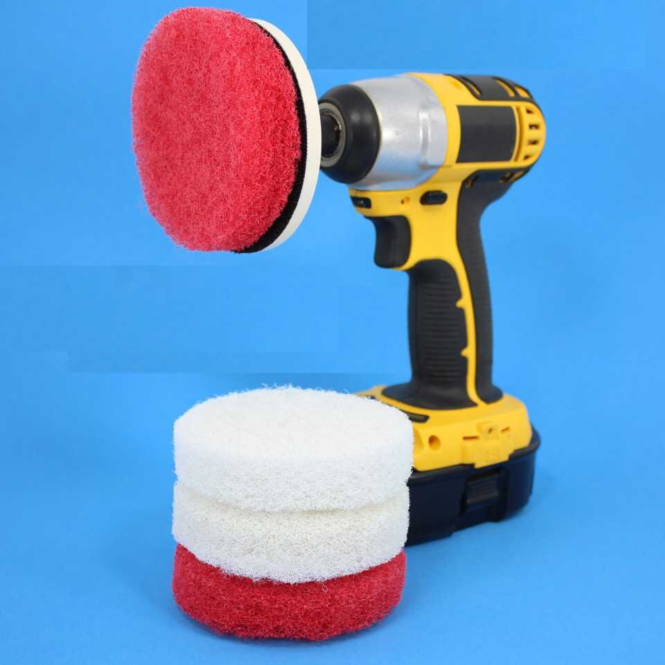 Abrasive nylon round wheel drill electric rotating cleaning brush