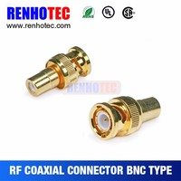 High quality gold plating rf adapter rca to bnc male connector