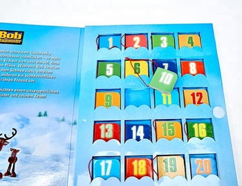Custom Arabic kids paper christmas gift book, children's mini board book color printing