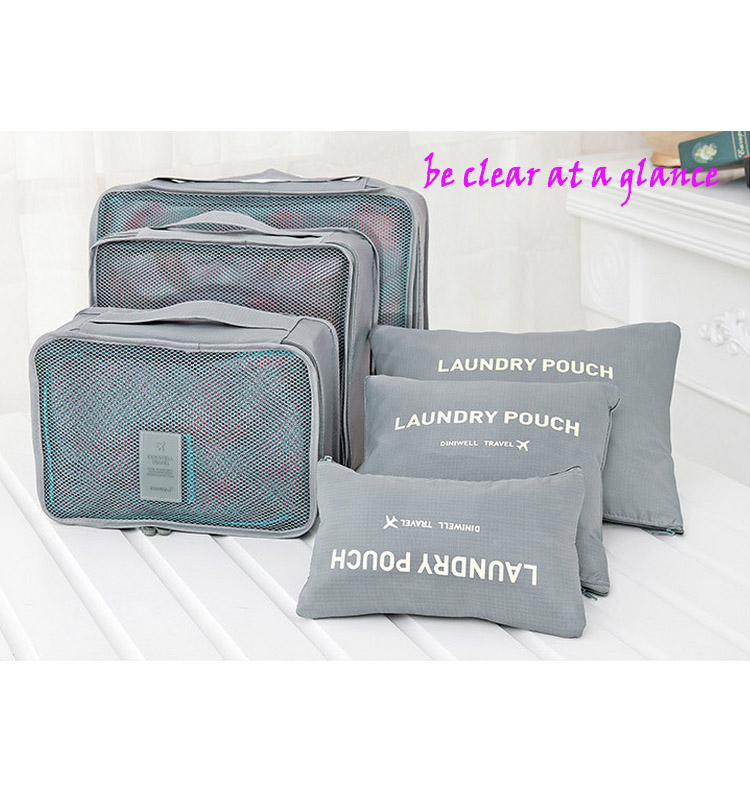 Nuevo 6 unids conjunto de embalaje cubo de equipaje de viaje organizador de ropa interior - Organizador de ropa interior ...