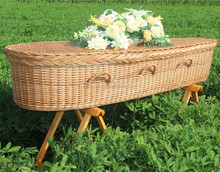 natural ecofriendly handwoven wicker coffin