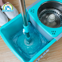 Wholesale 360 magic drawer type floor cleaning foldable bucket spin mop cleaning tools