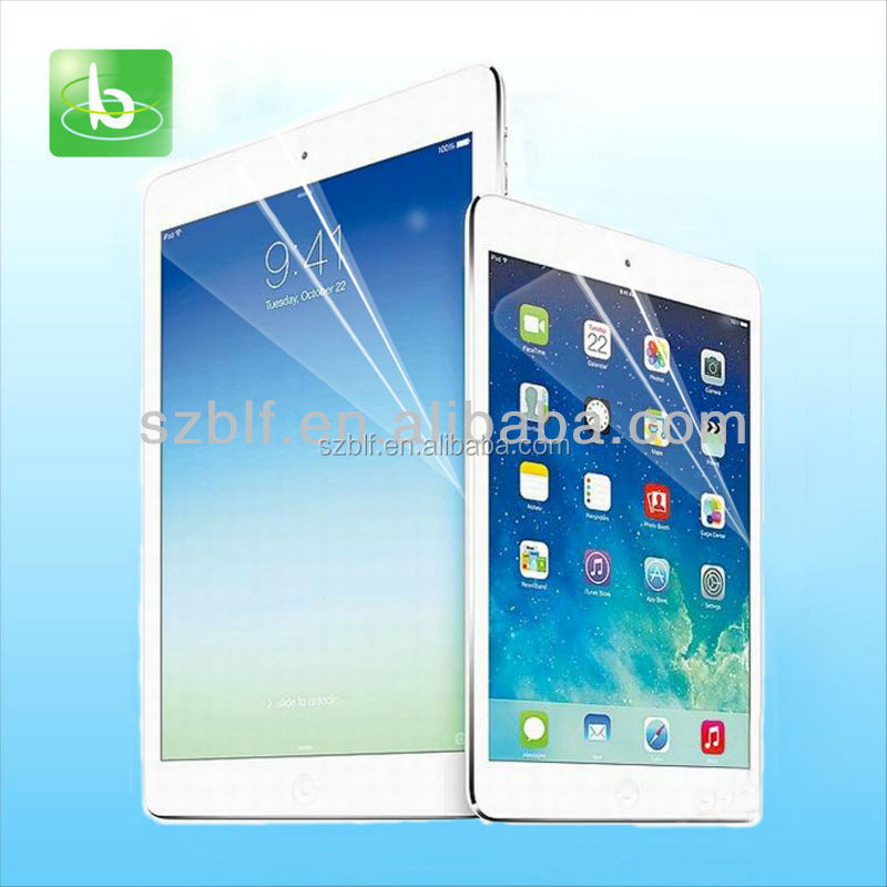 Wholesale tablet screen protector HD clear pet film screen guard for iPad mini 2