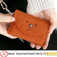 Good quality wallet felt travel purse from China