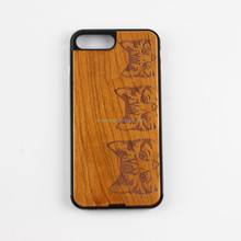 wooden case for iPhone ,wood plastic with rubber coating ,wooden case for cell phone for smartphone
