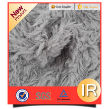 long hair spraying process polyester garments accessories pv plush fabric