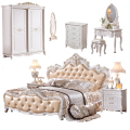 New model bedroom furniture antique luxury royal leather headboard bedroom Furniture Set