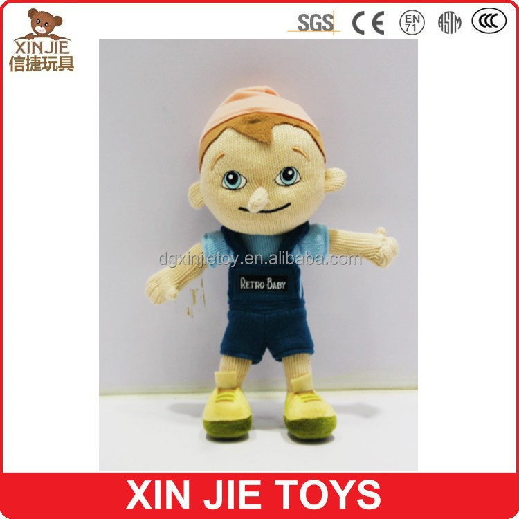new design soft boy doll toy funny stuffed boy doll for kids running plush boy doll
