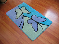 rubber backed bathroom rug, 2014 NEW Collection, Direct from Factory