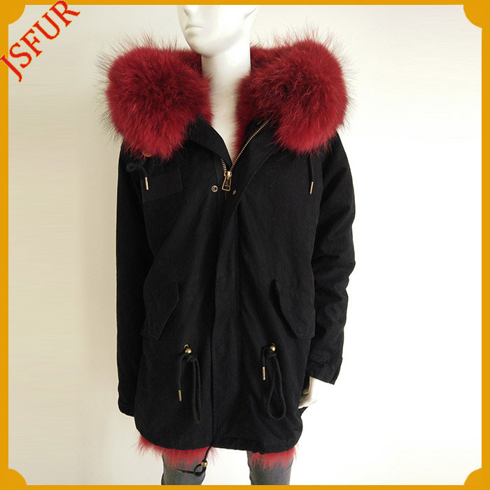 Wholesale Winter Jacket Women Coat Real Fur Parka