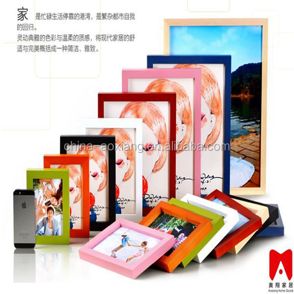 Colourful Plastic Picture Frame 4x6 5x7 6x8 8x10 Mylar Framed Picture