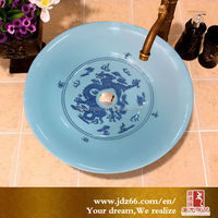 Hot sale modern art hand painted hair wash basin for hair salons
