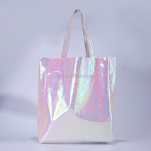 Laser Hologram Leather Shoulder Beach Bag Brand New Lady Shopping Bags Large Capacity Casual Tote Handbag