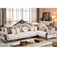 New design high quality solid wood luxury sofa set for living room