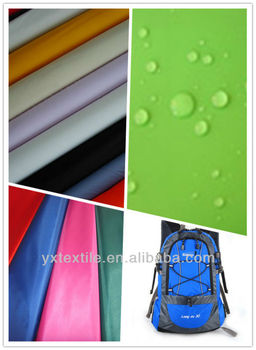 pu coated 190t 100% polyester fabric for bags