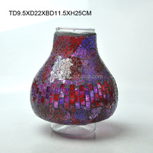 different type glass mosaic vase