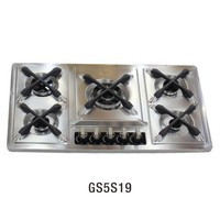 GS5S19 Factory Stainless steel built in 5 burner cooking gas stove/gas furnace/kitchen range cooker