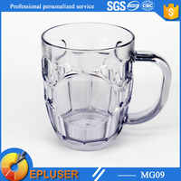 2016 latest design unbreakable logo custom printed 16oz Plastic beer Mug