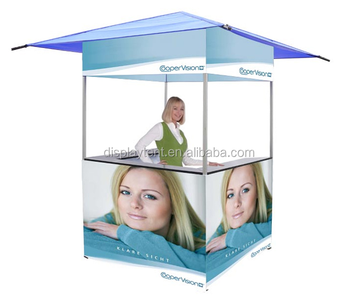 promotion booth kiosk tent with tables