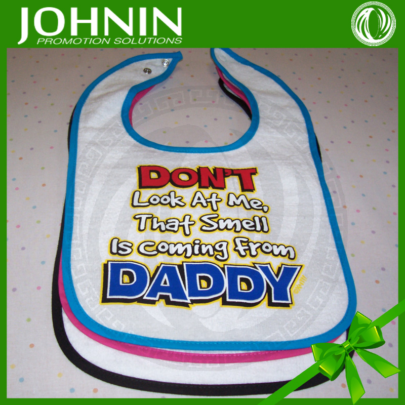 best sale eco-friendly safe cotton material advertise baby bibs