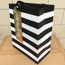 wholesale black and white striped gift bags low minimums