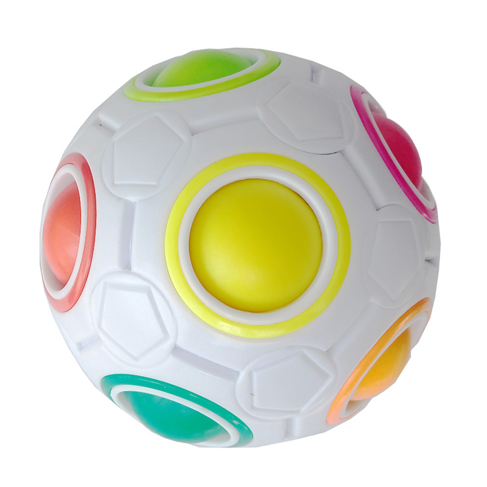 Hot Fun Creative Spherical Football Puzzles Magic Cube Speed Rainbow Ball for Kids Educational Learning Toys