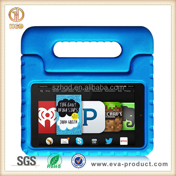 Rubber bumper kid proof case cover for amazon kindle fire hd6